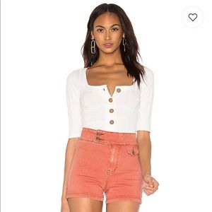 NWT free people button up top